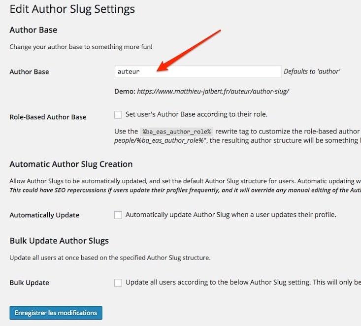 Modifier la traduction WordPress author par auteur