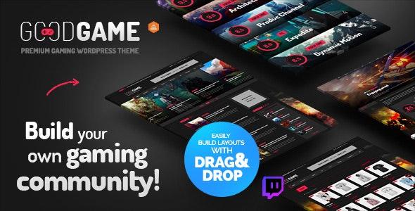 Le thème WordPress Good Game pour les streamers jeux vidéos