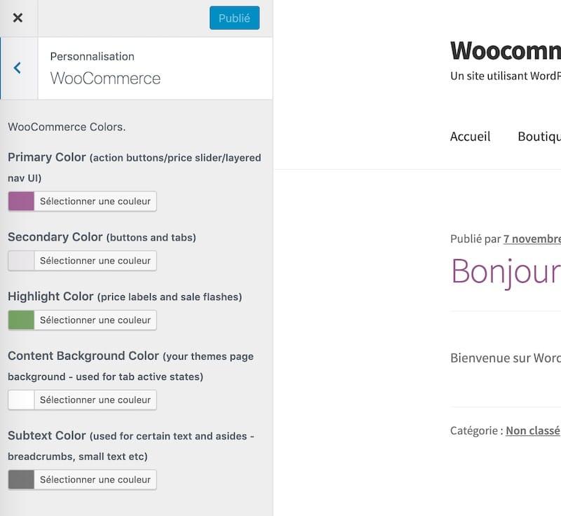 Personnaliser les couleurs de Woocommerce ave ce plugin