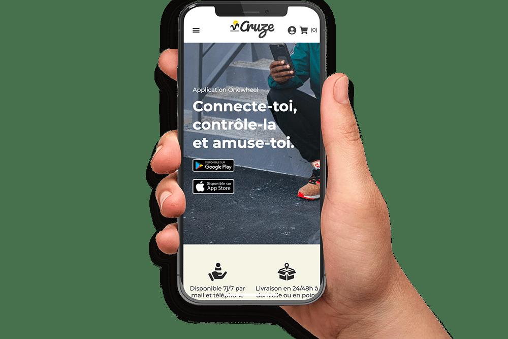 Version mobile Cruze Prestashop 1.7