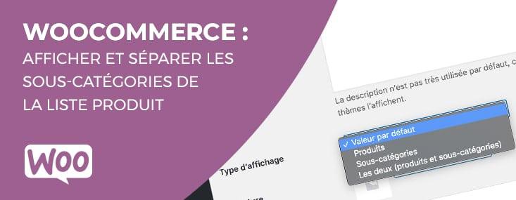 Détacher les sous-catégories de votre Woocommerce avec la liste produit
