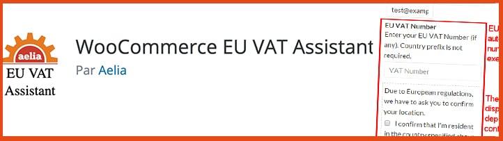 le plugin WooCommerce EU VAT Assistant
