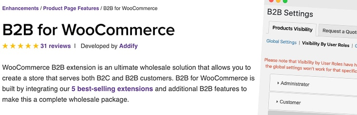 Plugin officiel B2B Woocommerce